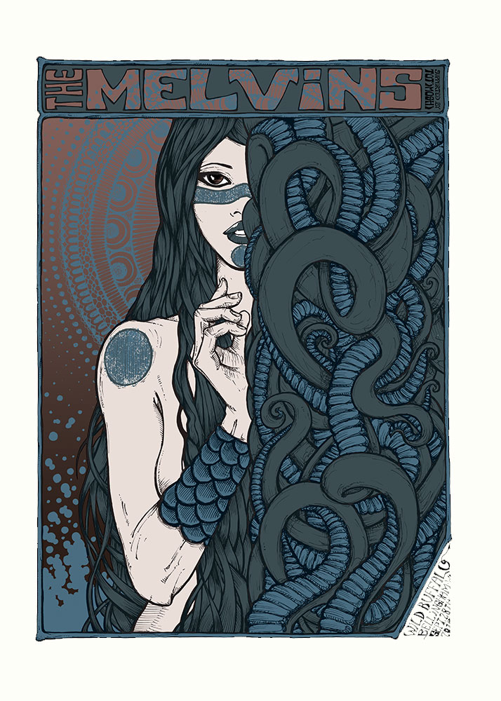 SLEEP Los Angeles MELVINS 2017 silkscreened poster by Malleus night 1