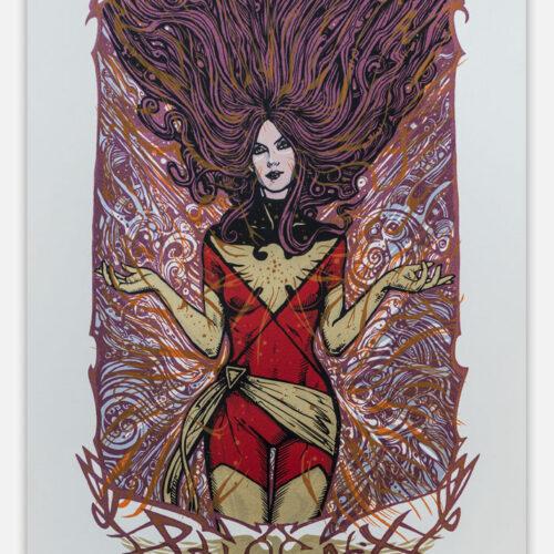 Marvel Phoenix Xmen Silkscreen Poster Malleus