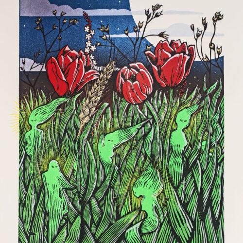 Dream Nature Awakening Silkscreen Poster Malleus