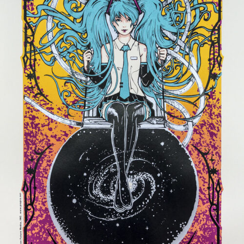 Crypton Future Media Hatsune Miku Silkscreen Poster Malleus